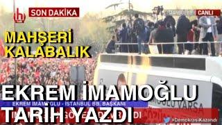 EKREM İMAMOĞLU MAZBATASINI ALDI / İMAMOĞLU BALKON KONUŞMASI / MAHŞERİ KALABALIK