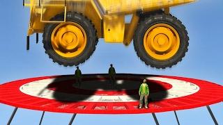 HEAVY DUMP TRUCK vs. JELLY! (GTA 5 Funny Moments)