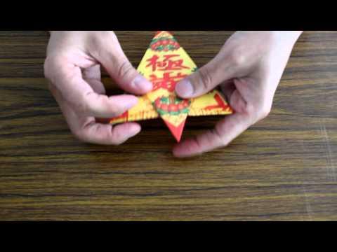 摺紙教學(祭拜往生者紙元寶的摺法) | FunnyCat.TV