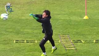Entrenamiento del Real Zaragoza: porteros   16/2/2018
