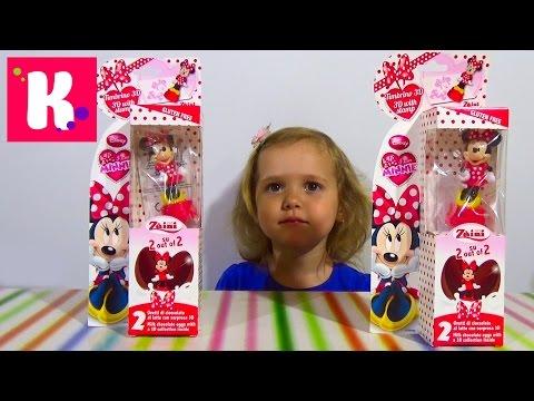 Минни Маус  распаковка игрушек