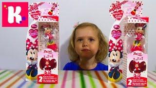 Минни Маус Дисней туба с сюрприз игрушки распаковка Disney Minnie Mouse surprise eggs toys