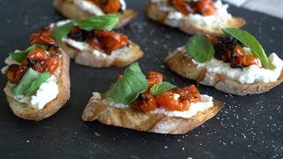 How to Make Caramelized Tomato Bruschetta | Sunset