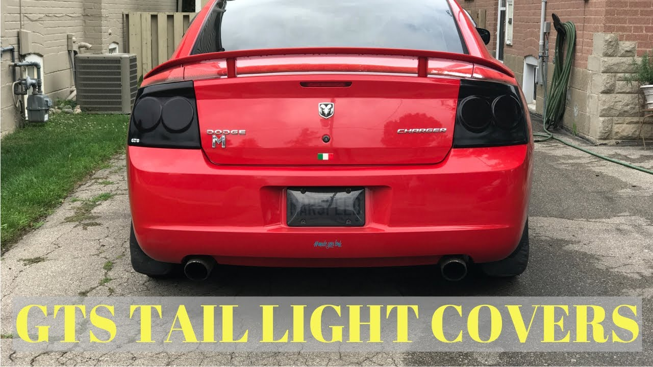 Dodge Charger Gts Smoked Tail Light Covers Looks Sick