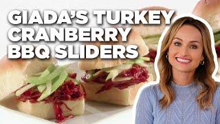 Giada's Turkey Cranberry BBQ Sliders | Food Network