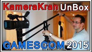 Gamescom 2015 aus der Vogelperspektive - Unboxing: Kamerakran [Vlog HD]