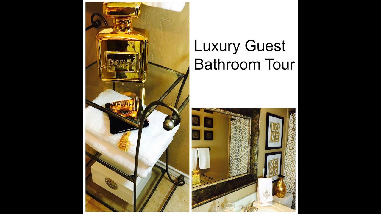 Luxury guest bathroom tour youtube for Megan u bathroom tour
