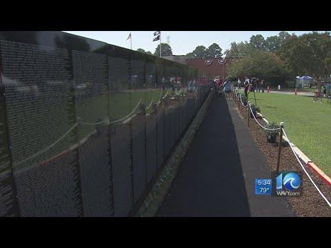 Vietnam War Moving Wall on display in Newport News