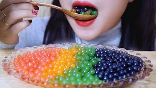 ASMR Popping Boba (frog eggs) EXTREMELY SOFT EATING SOUNDS | L…