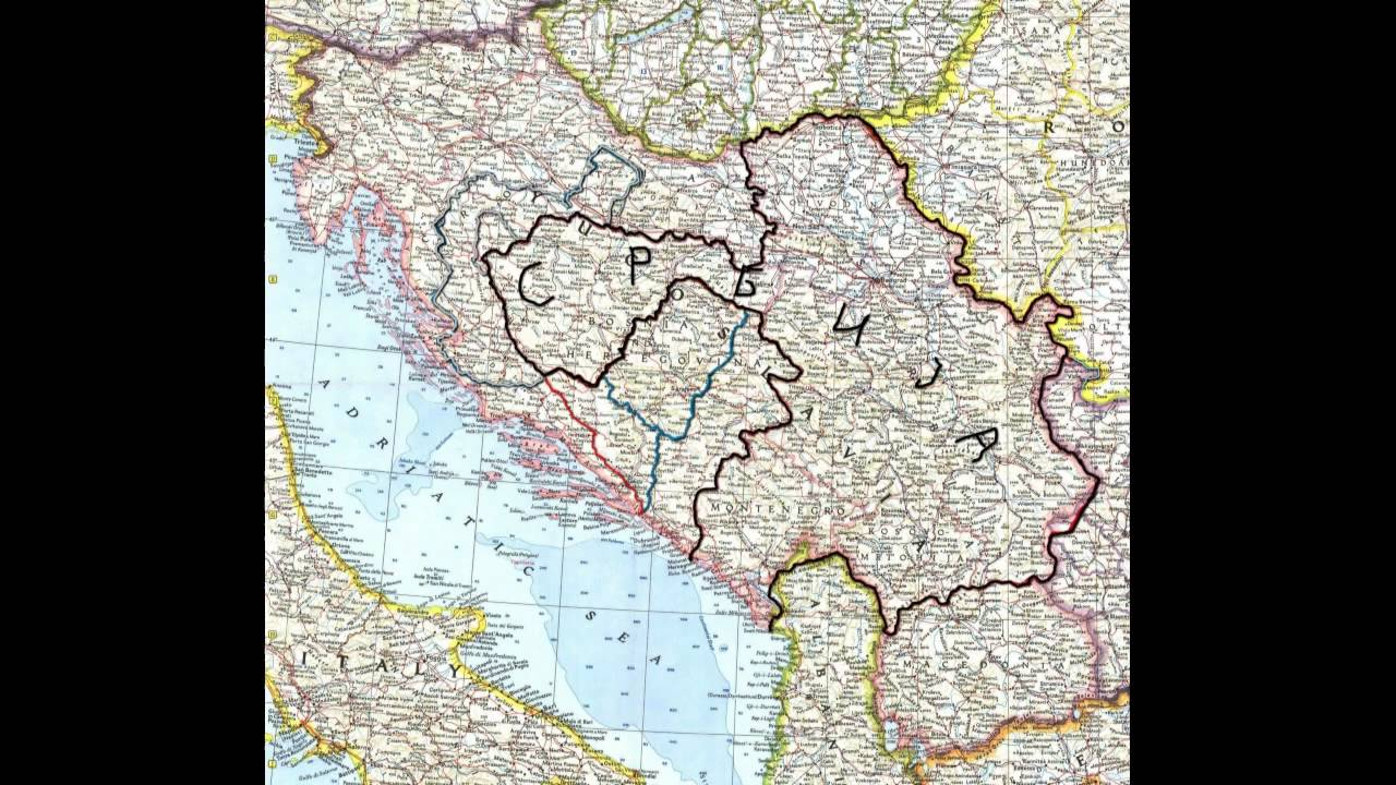 Srbija Velika Srbija Karta Srbije Great Serbia Map Youtube