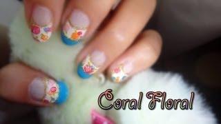 Simple Cute Floral Nail Tutorial Thumbnail