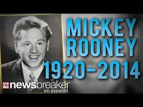 1920-2014: Hollywood le dice Adiós a Una Leyenda; Mickey Rooney muere a los 93 Años de Edad