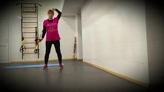 1 часть. Комплекс упражнений с палкой разминка