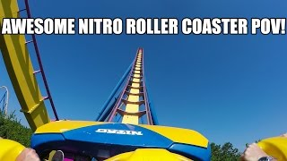AWESOME Nitro Roller Coaster POV! 60FPS Six Flags Great Adventure New Jersey