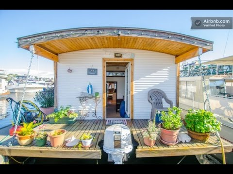 Barge Tiny House Vacation Rental On Wheels or on the Water YouTube