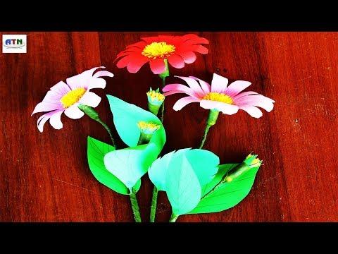 DIY Paper Gerbera Daisy Flowers Handcrafted Art!