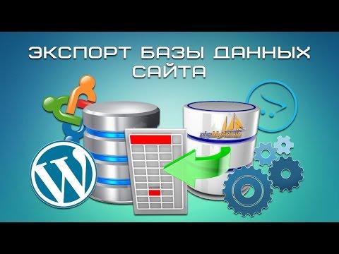 Экспорт базы данных сайта