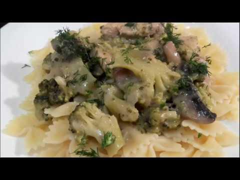 ✔️-poulet-aux-champignons---brocolis