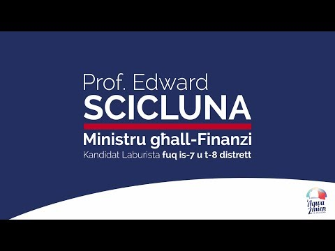 Prof. Edward Scicluna - Kandidat Laburista fuq is-7 u t-8 distrett