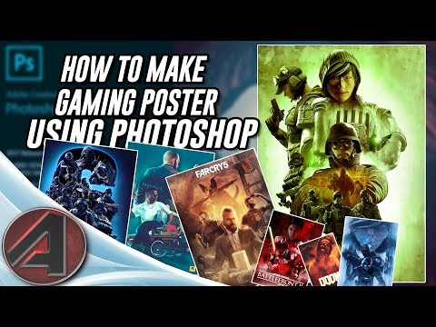Photoshop Poster Tutorial - How to make gaming Poster