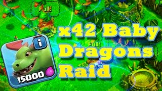 Clash of Clans - x42 BABY DRAGONS RAIDS! - New Update Baby Dragon Attack