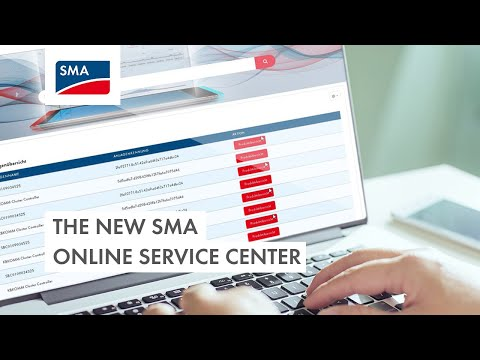 The new SMA Online Service Center (english version)