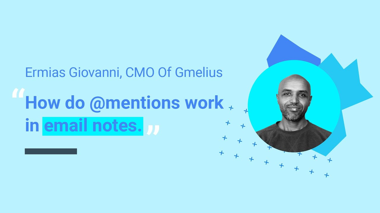 How do @mentions work in email notes