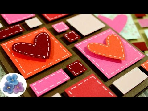 Tarjeta de san valentin con recortes tarjetas de amor - Manualidades para hacer tarjetas ...