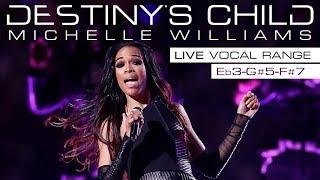 Michelle Williams' AMAZING Live Vocal Range: Destiny's Child Era [Eb3-G#5-F#7]