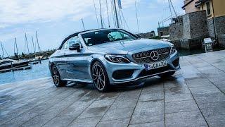 Nuova Mercedes Classe C Cabrio: test drive e sound della versione AMG