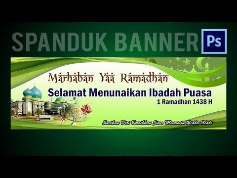 Cara Membuat Design Banner Ramadhan - Tutorial With Photoshop