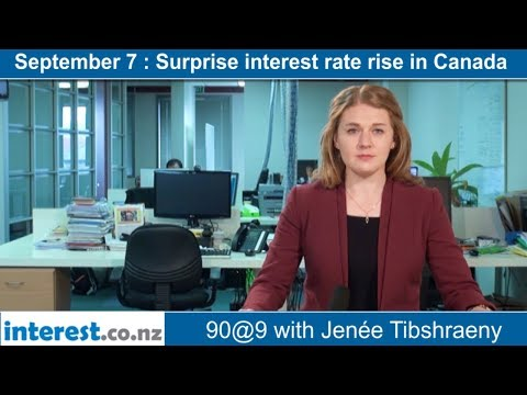 90 seconds @ 9am : Surprise interest rate rise in Canada