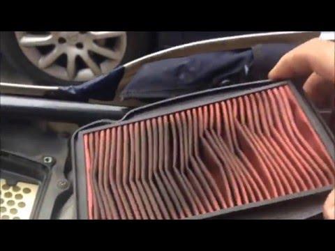 Motosiklet / Scooter Hava Filtresi Nasıl Değişir-Temizlenir ( Scooter-motorcycle how to air filter )