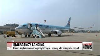 Korean Air plane makes emergency landing in Germany after losing radio contact