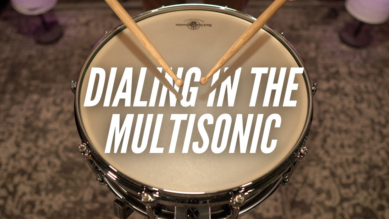 Dialing in the Multisonic snare system.