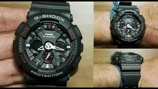 Casio G-shock GA-120-1A *UNBOXING & light demo