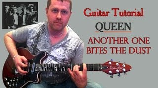 Another One Bites The Dust - Queen - guitar tutorial