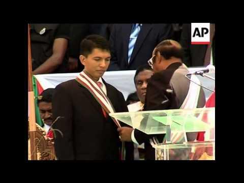 Andry Rajoelina sworn in as new President