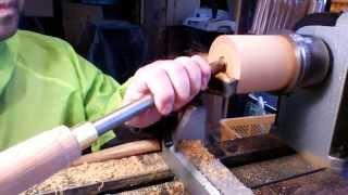 hap40 deep bowl gouge 16mm 試し削り 木工旋盤