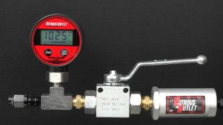 Digital Nitrous Flow Gauge with Shut-off valve and filter