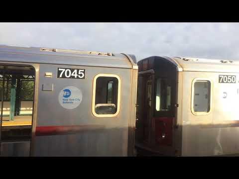 IRT White Plains Road Line: Not In Service R142 Testing New Equipment @ (Bronx Park East)