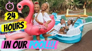 We slept overnight in our POOL!!!