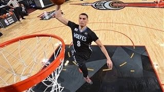 zach lavine flushes the alley oop from the foul line