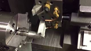 ZOO CNC CONSULTANTS HAAS CNC LATHE ST20 TURNING CENTER WITH POOR MANS BAR PULLER HOW TO DIY