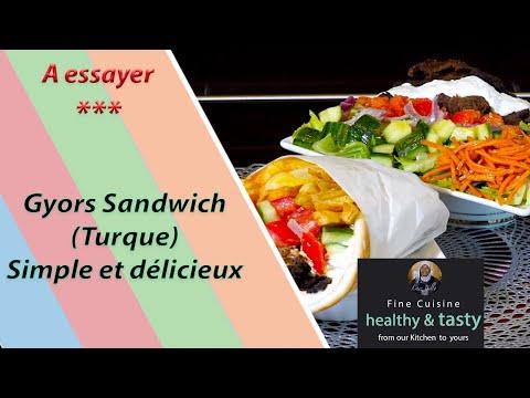 gyros-sandwich-(turque)-|-facile-à-reprendre---plat-sain-et-délicieux