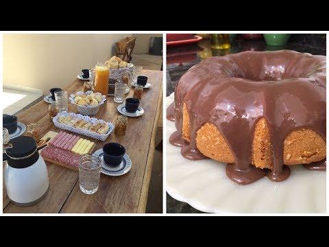 Café da manhã de aniversário | Bolo de cenoura | Mesinha ao ar livre!
