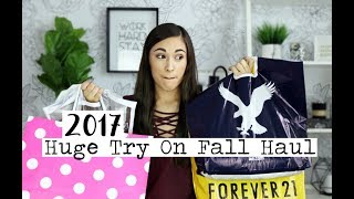 Huge Try On Fall Clothing Haul!    ft. Forever 21, PINK, Alo Yoga & More!