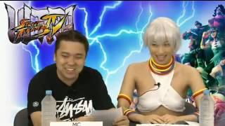 Yuka Kuramochi cosplay Elena during Ultra Street Fighter IV Special...