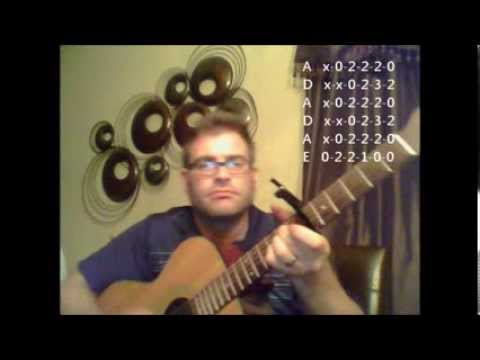 how to play the gambler on guitar