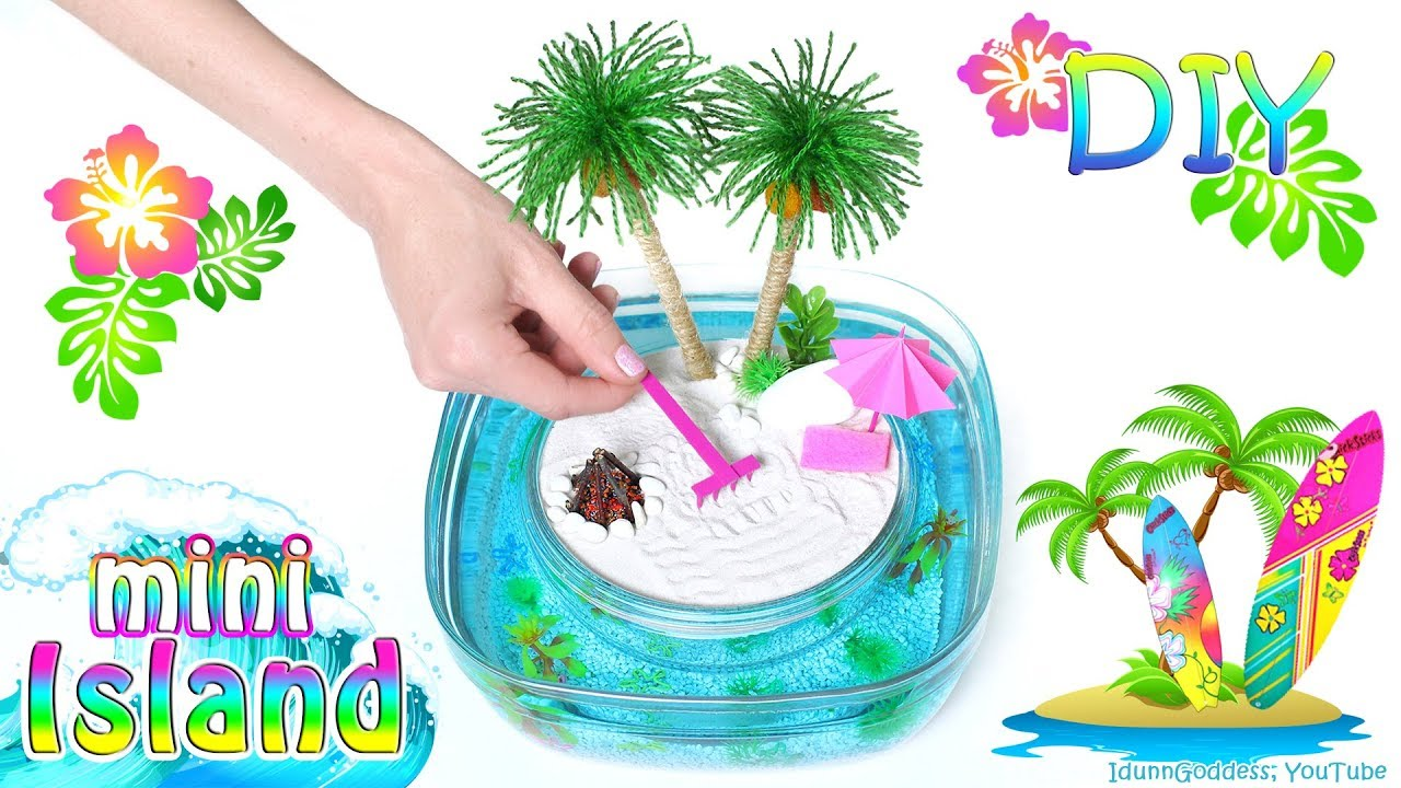 How To Make A Miniature Island In Ocean Zen Garden U2013 DIY Stress Relieving  Desk Decoration